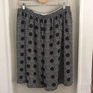 Dresses & Skirts - Navy Polka Dot Skirt